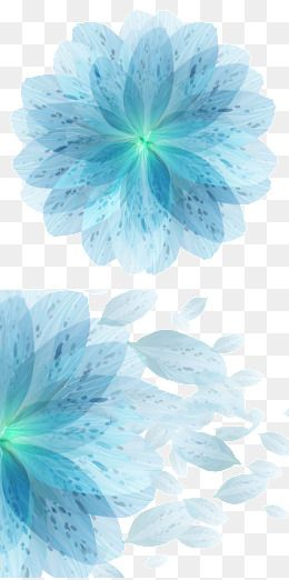 Blue Flower Flower Symphony Shading Background Blue Vector Flowers