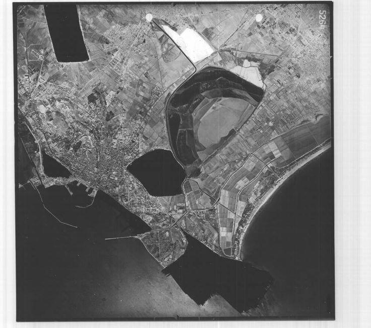 Il golfo di Cagliari in una IGM del 1956