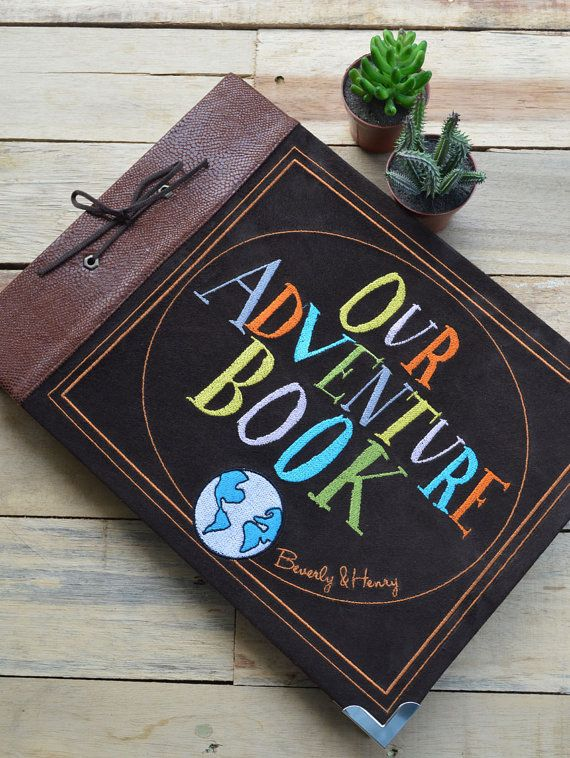 I kind of HAVE to get this! Angel and I watch Up all the time! Our Adventure Book by littlesyamdesign on Etsy, $170.00