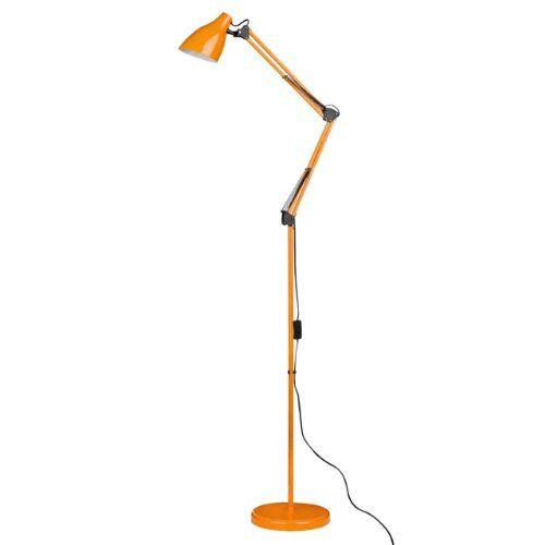 1000 images about lighting on pinterest living room for Orange metal floor lamp