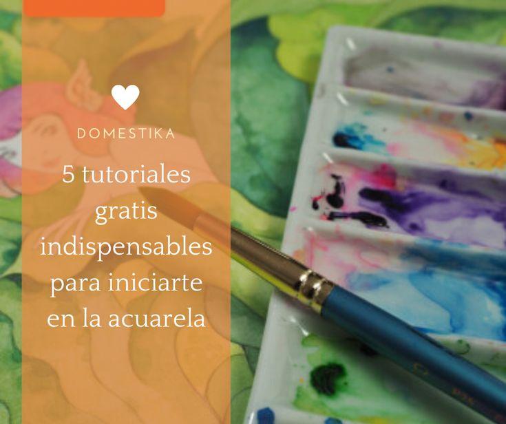 Aprende, con estos sencillos tutoriales, a empezar a trabajar con esta técnica y a digitalizar tus creaciones con acuarela #diy #tutorial #affiliate #acuarela Diy, Crafts, Water Colors, Paintings, Craft Tutorials, Creativity, Hipster Stuff, Drawings, Manualidades