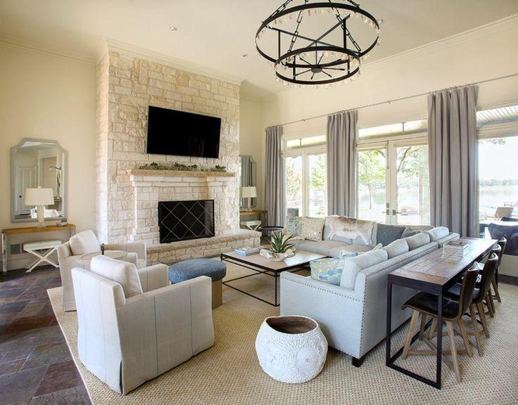 idee per mobili soggiorno moderni con divano e poltrone ...