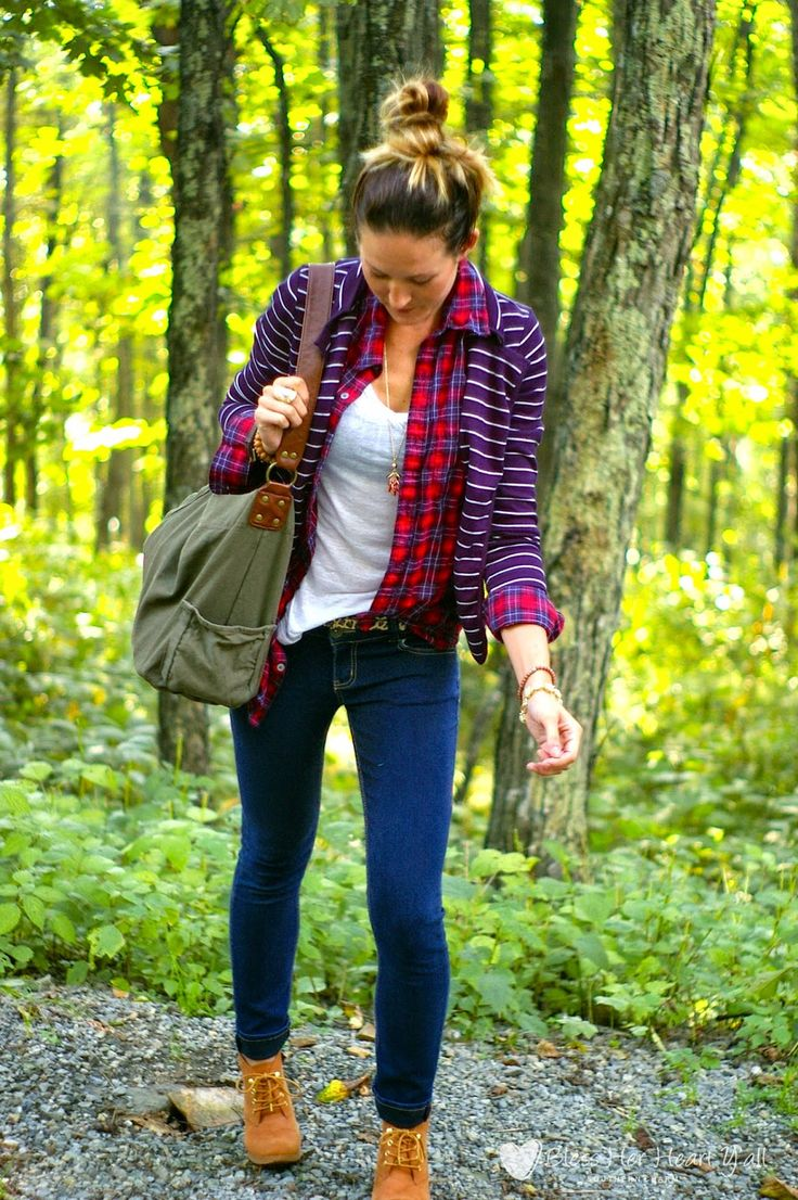 Camping In Plaid And Stripes, striped blazer, leather bracelet, wooden bead bangles, skinny jeans, animal print belt, olive hobo leather bag, caramel booties, www.blessherheartyall.com