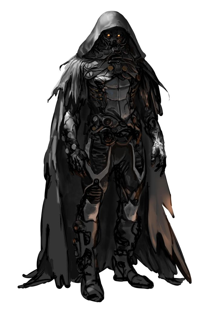 NEEDLE by Marko-Djurdjevic RPG Degenesis: Rebirth Edition cyberpunk Darth Vader future solider plugsuit hooded cloak black armor clothes clothing fashion player character npc | Create your own roleplaying game material w/ RPG Bard: www.rpgbard.com | Writing inspiration for Dungeons and Dragons DND D&D Pathfinder PFRPG Warhammer 40k Star Wars Shadowrun Call of Cthulhu Lord of the Rings LoTR + d20 fantasy science fiction scifi horror design | Not Trusty Sword art: click artwork for source