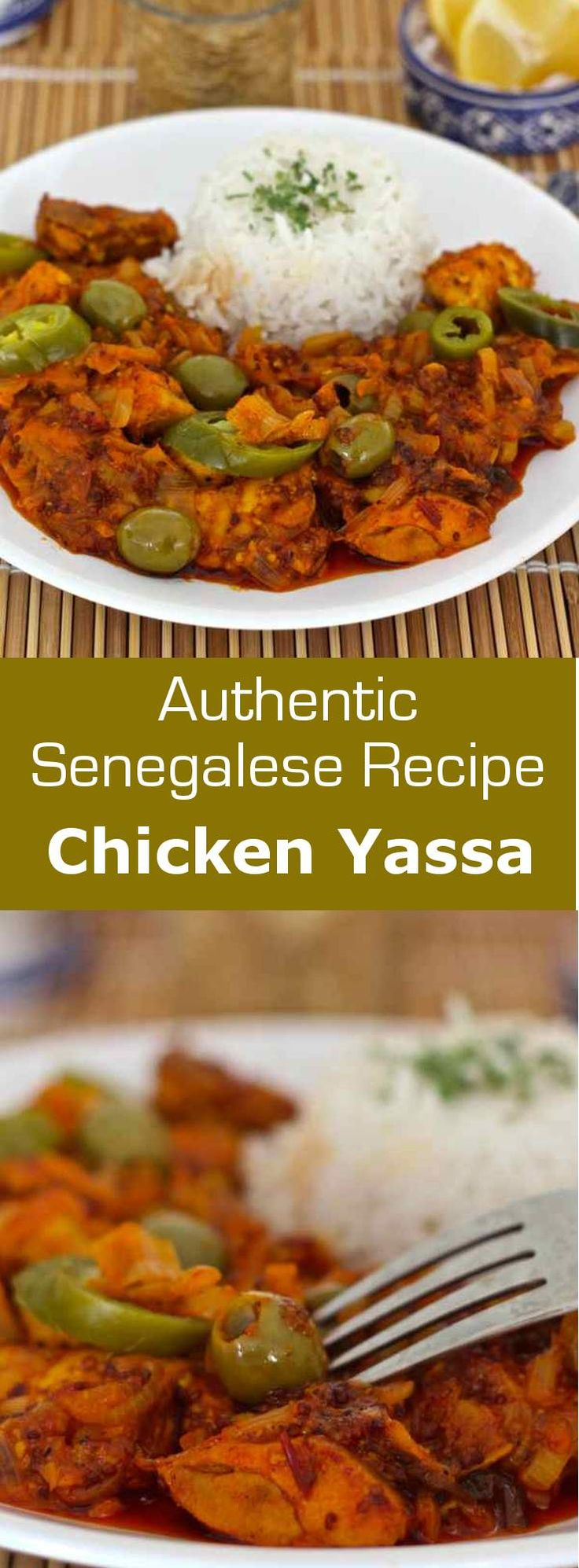 Chicken yassa, one of Senegal's most popular dishes, consists of chicken marinated in onion, lemon and mustard, which is roasted before being cooked. #africa #senegal #196flavors