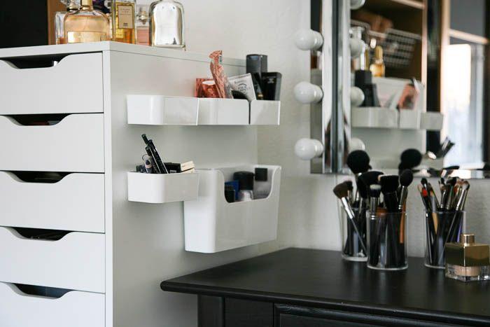 Mine nye makeuphylder fra IKEA – og hvordan man IKKE skal hænge dem op