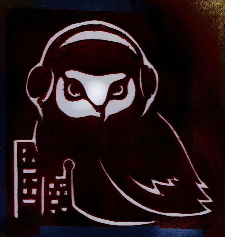 Owl City Stencil Original by ~On-Park-Benches on deviantART