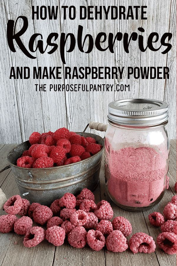 How to Dehydrate Raspberries and Make Raspberry Powder