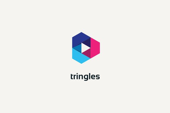 Triangles Logo by cairon on @creativemarket