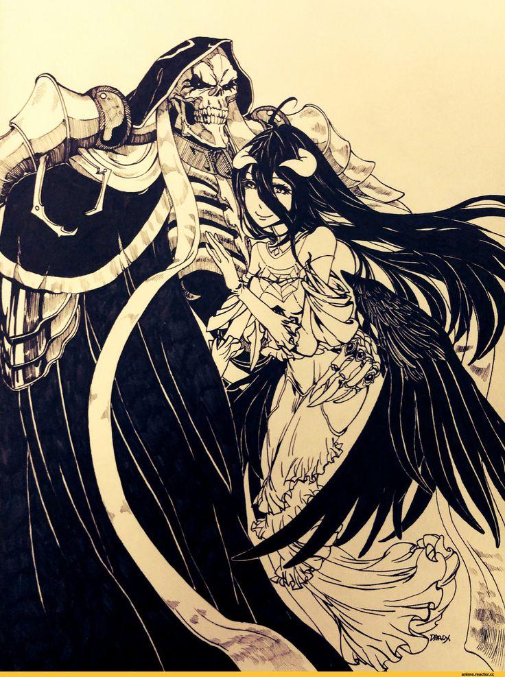 Anime,Аниме,Ainz Ooal Gown,Overlord (Anime),Albedo,Monochrome ...