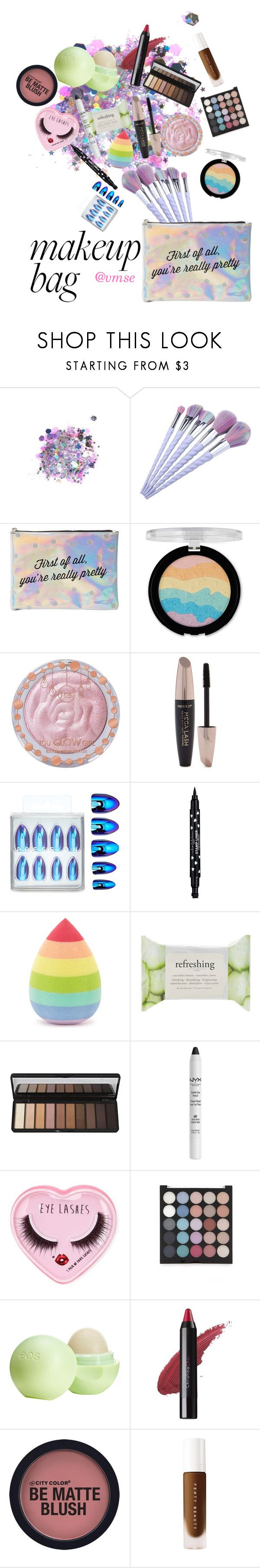 """""""My Makeup Bag"""" by vmse on Polyvore featuring beauty, The Gypsy Shrine, Charlotte Russe, Forever 21, Eos, Christina Choi Cosmetics and makeupbag"""