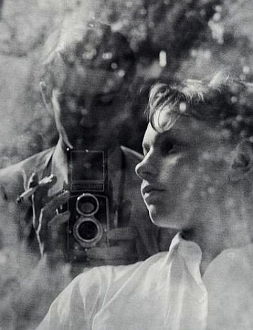 """Johan and Ysbrant, Johan van der Keuken, 1955 (via timetravelteam)        Documentary filmmaker Johan van der Keuken was born in Amsterdam in 1938 and published his first book of photographs in 1955, We Are 17. In 1956 he won a scholarship to IDHEC (Institut des Hautes Etudes Cinématographiques) in Paris. From then on, his career as filmmaker and photographer developed around the theme of """"the perception of reality."""""""
