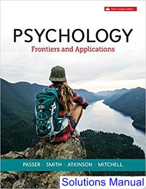 Solutions Manual for Psychology Frontiers and Applications