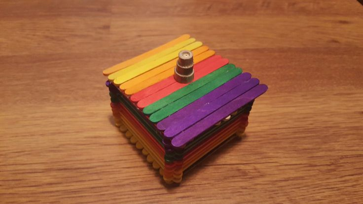 Jewelry box made out of popsicle sticks