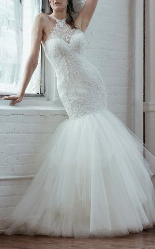 Alma Lace Tulle Embroidered Gown by Isabelle Armstrong
