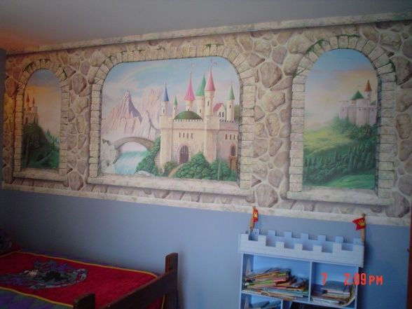 24 best images about boy 39 s room on pinterest trains for Boys room mural