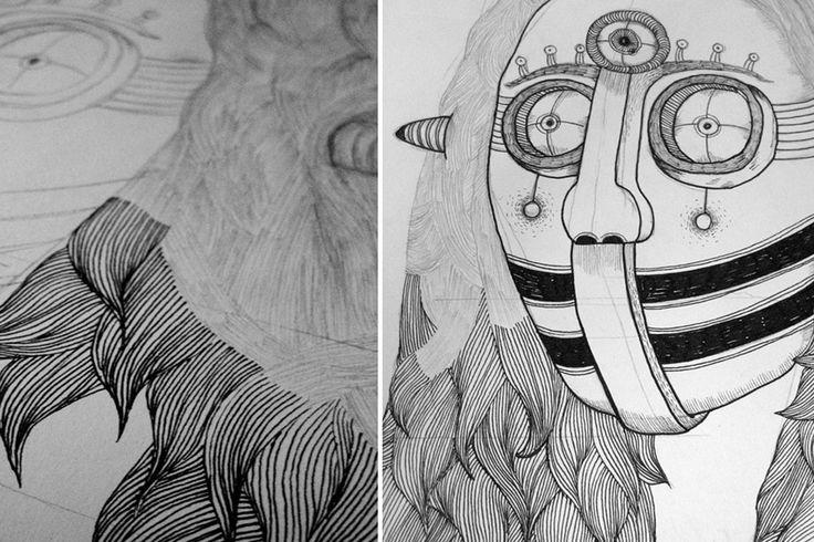 """O desenho é a sua rotina diária e é da rotina diária que lhe vem o desenho. Miguel Sousa, aka """"heymikel"""""""