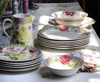 Tableware \u0026 Entertaining | Gien Designer China | Michael C. Fina & 206 best Gien Frans porselein images on Pinterest | Porcelain China ...