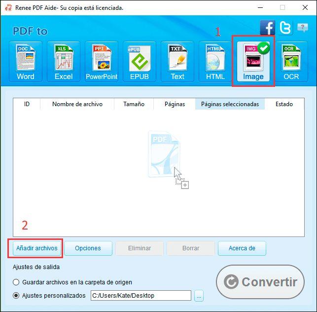 Renee PDF Aide es una estupenda herramienta gratis para convertir PDF a imágenes(JPG, PNG, BMP, TIFF, etc) sin límite de archivos ni marcas de agua. https://www.reneelab.es/convertir-pdf-a-imagenes.html