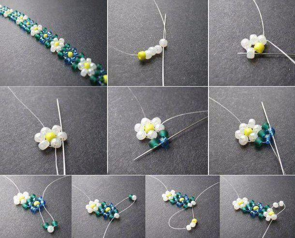 Plante *et bracelet en perle – Les créations de Salvina