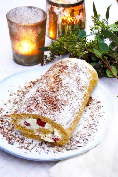 Bûche de Noël - een feestelijk dessert made by ellen #kerstismagic #recept