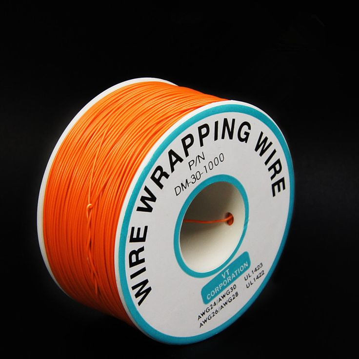 EziUsin Welding cable PCB Jumper Circuit Board 0.25mm Wire-Wrapping Electronic Wire 30AWG Cable 250m Orange