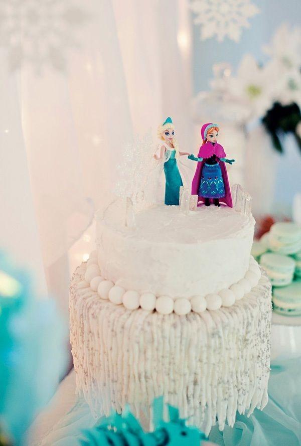 Eiskönigin-Thementorte zum Geburtstag-Deko Spielfiguren Frozen Prinzessinen