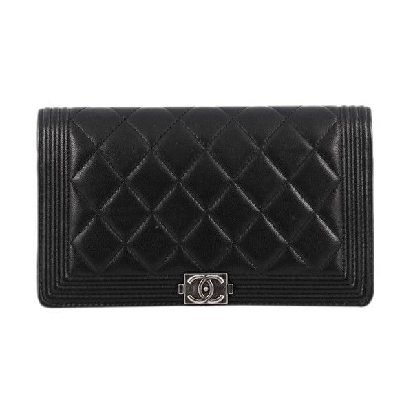 PreOwned Chanel Boy Yen Wallet Quilted Lambskin (€770