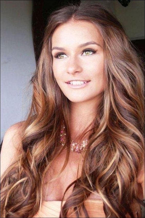 Brunettes With Red Caramel And Blonde Highlights Google