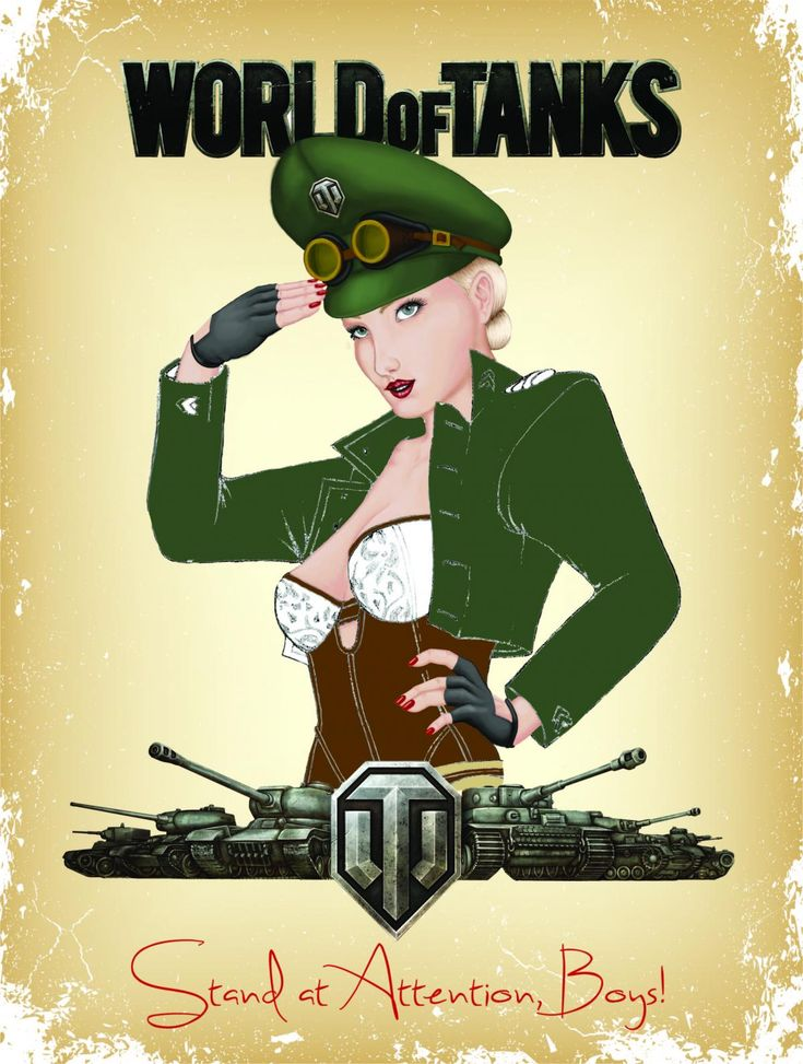 World of Tanks, Pin-up art.