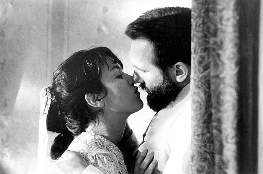 Isabelle Adjani as Camille Claudel and Gerard Depardieu as August Rodin in Bruno Nuytten's Camille Claudel