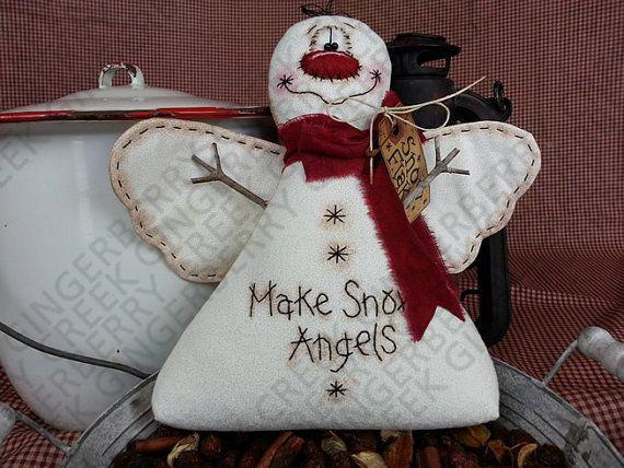 Hacer Ángeles de nieve patrón 123 patrón de por GingerberryCreek