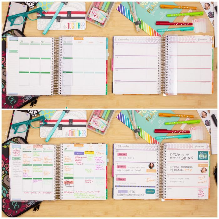 Choose from a vertical or horizontal layout with the new 2015/2016 Erin Condren Life Planner.