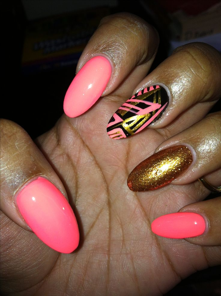 Oval nail design | Nails | Pinterest