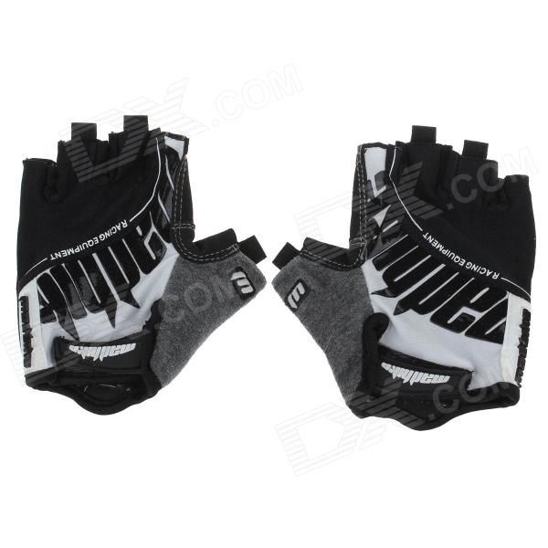 Back: Silicone + nylon lycra fabric printing Palm: Microfiber + anti-slip silica gel Feature:The gloves are designed specifically for sports lovers, with the half-finger design and with magic tape to adjust the most suitable and comfortable to your wrist http://j.mp/1q0GHmO