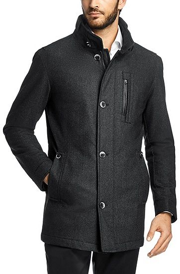 Regular fit outdoor jacket 'Conaz new wool blend by BOSS