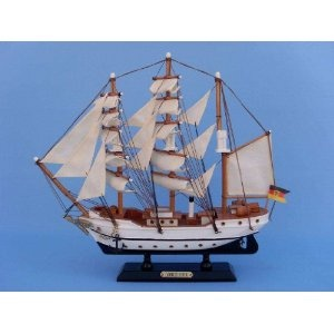 "Gorch Fock 14"" Tall Model Ship - Already Built Not a Kit - Wooden Tall Sailing Ship Replica Scale Ship Model Boat Home Nautical Beach Wall Décor or Gift - Sold Fully Assembled (Toy)  http://howtogetfaster.co.uk/jenks.php?p=B002YLGD54  B002YLGD54"