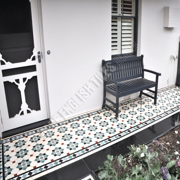 Olde English Tiles Australia - Glasgow pattern with Norwood boarder