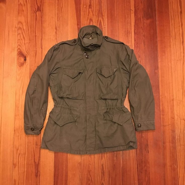 WWII M 1943 US Army Field Jacket Large Size 36 Regular Dated 1944 | eBay