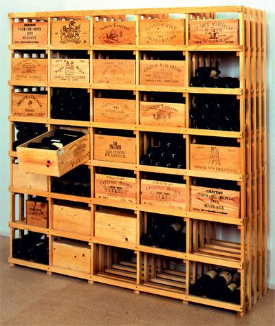 Genial Hardwood Wine Room Shelving