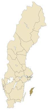 Lage von Gotland in Schweden