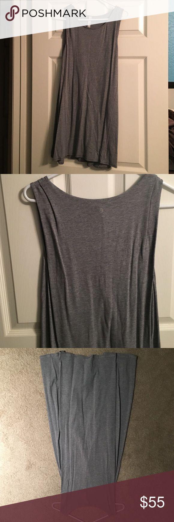 Grey lululemon dress Super cute! Prefect condition. No flaws! lululemon athletica Dresses