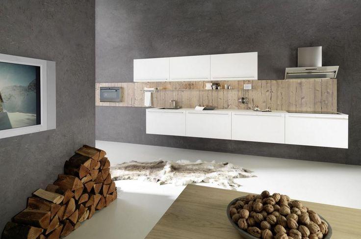 Idee voor in de huiskamer gedroogd hout tegen de muur plaatsen home inspiration pinterest - Idee huis uitbreiding ...
