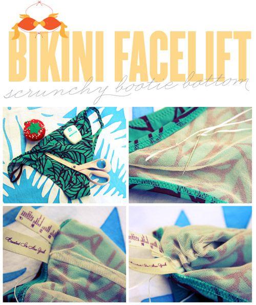 Bikini Facelift: DIY Ruched Bikini Bottom