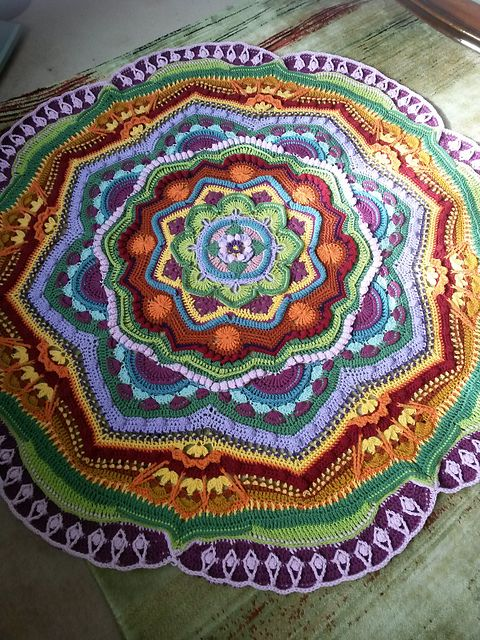 Ravelry: Project Gallery for Mandala Madness pattern by Helen Shrimpton