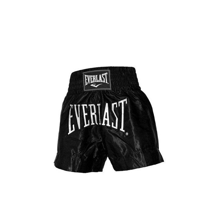 Everlast - Short Boxe Thaï uni Noir T/M EMT6