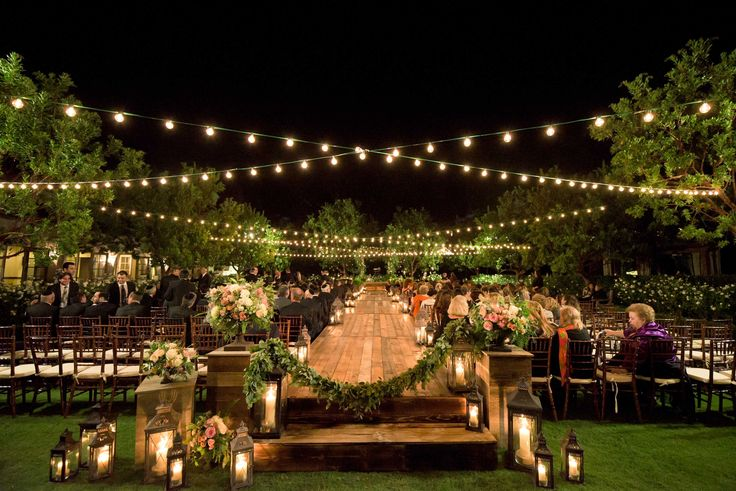 5 Examples of Nighttime Wedding Ceremony Décor for Inspiration - Inside Weddings Photo by Paul Barnett Photographer; Consulting by EverAfter Events