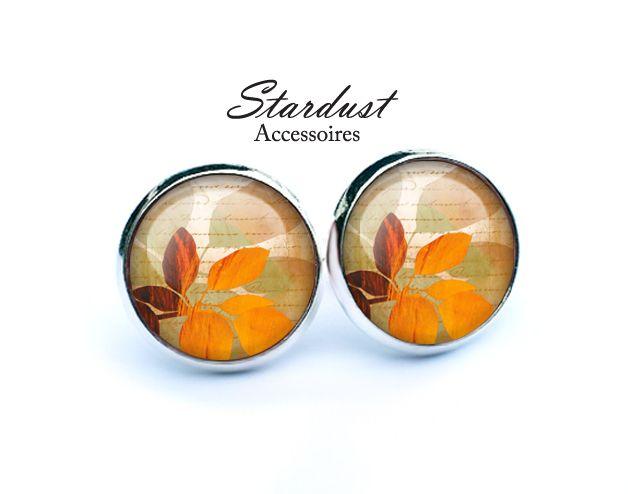 Ohrstecker silber ✿ Herbstblätter VII ✿ von Stardust Accessoires auf DaWanda.com