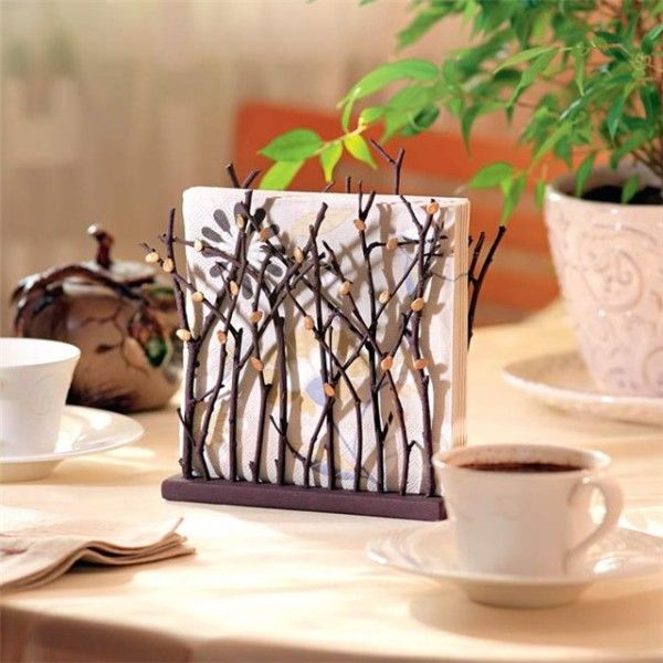 Diy Napkin Holder Ideas Rustic Napkins Wood Napkin Holder