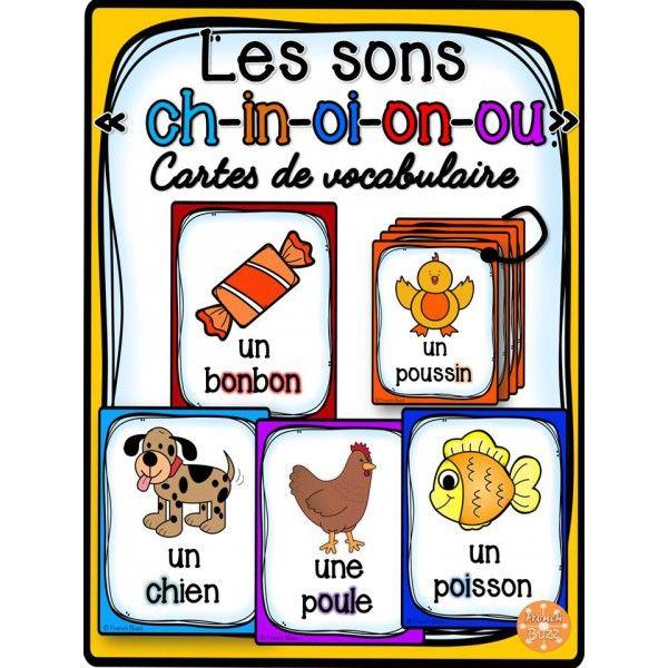 Les sons ch-in-oi-on-ou - Cartes de vocabulaire